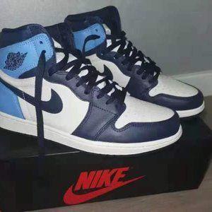 Nike Air Jordan 1 Retro High OG Obsidian Blue Sail